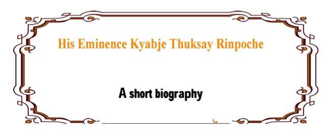 a short biographie
